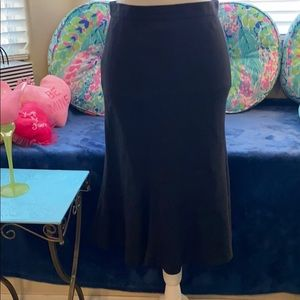 Chaps washable black linen, lined skirt